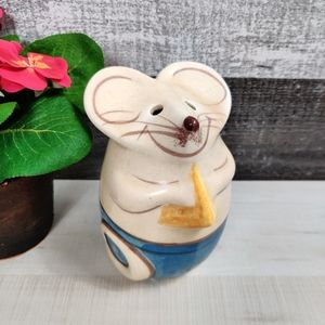Vintage Gufstan stoneware parm cheese mouse shaker